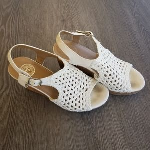 SO Taffy Women's Wedge Sandals-white Size 8